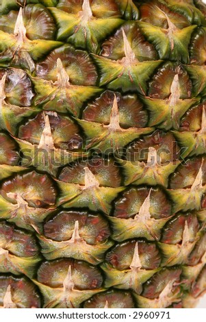 Pineapple texture closeup. - stock photo