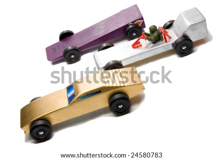Pinewood Derby - stock photo
