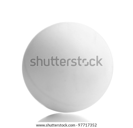 ping-pong ball isolated on white - stock photo