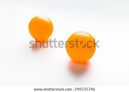 Ping pong ball on a white background - stock photo