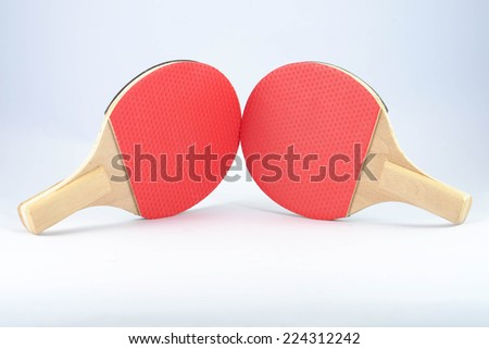 Ping Pong Bat for dual playing with fun - stock photo