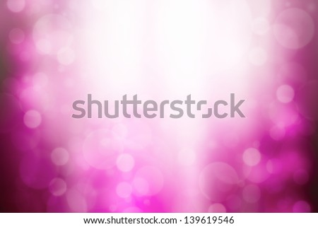 Pink abstract background with bokeh and sun rays - stock photo