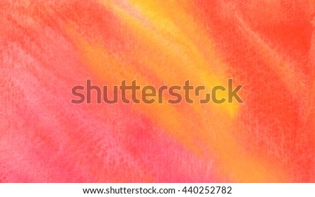 Pink abstract hand drawn watercolor background, raster illustration, stain watercolors on wet paper - stock photo