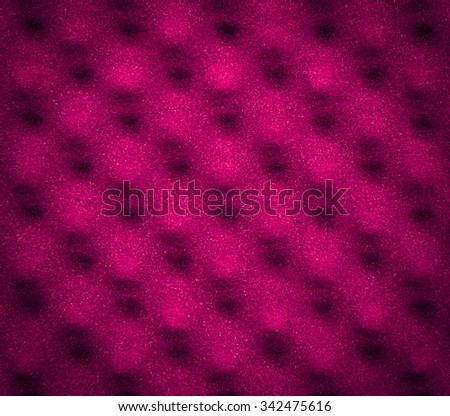 Pink acoustic foam with vignette for abstract texture or background - stock photo