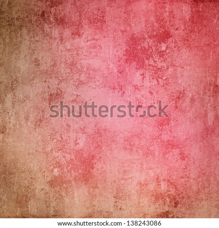 pink and beige grunge texture or background - stock photo