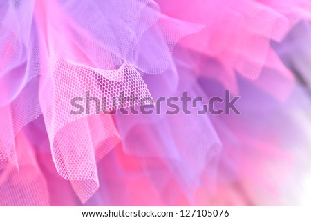 Pink and lavender tutu in full frame - stock photo