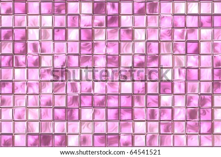 Pink And Purple Color Tiles At Bathroom Wall.