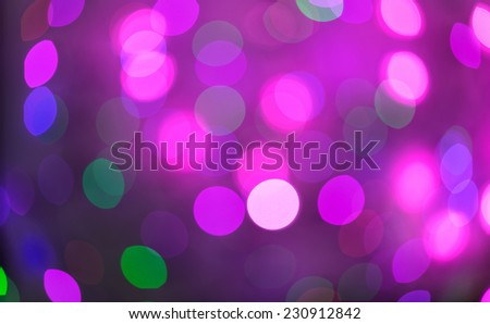Pink and purple holiday bokeh. Abstract Christmas background, christmas lights background - stock photo