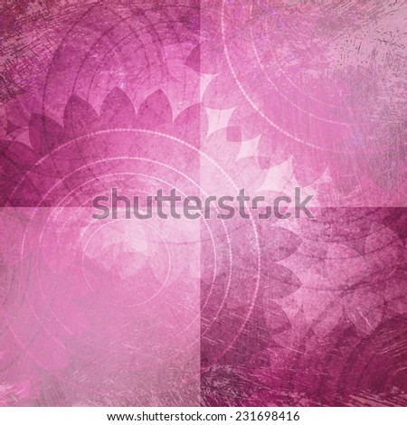 pink and white background blocks or squares with faded old vintage texture and floral pattern, rustic shabby chic background design - stock photo