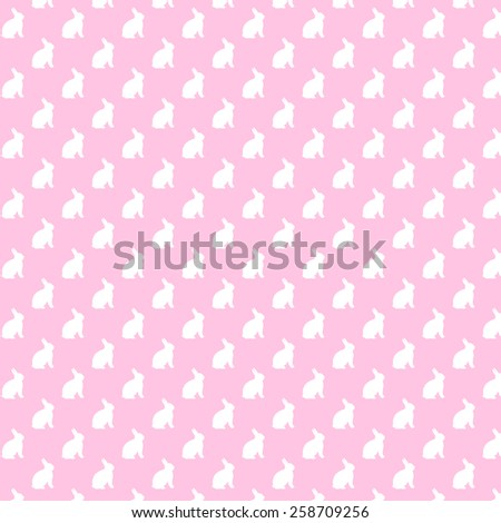 Pink and White Bunnies Background Bunny Pattern Texture - stock photo