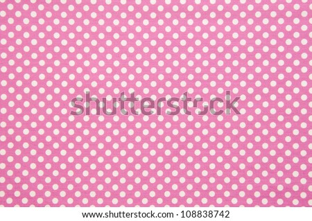 Pink and white  spot pattern can be used for background. - stock photo