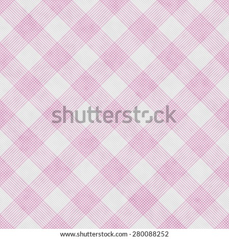 Pink and White Striped Gingham Tile Pattern Repeat Background that is seamless and repeats