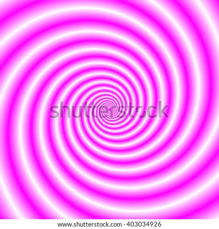 Pink and White Swirl / An abstract fractal image with a spiral design in pink and white.