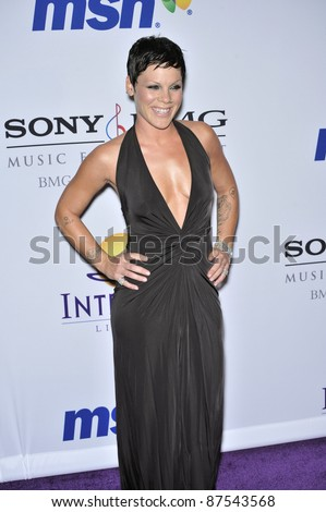 Pink at music mogul Clive Davis' annual pre-Grammy party at the Beverly Hilton Hotel. February 9, 2008  Los Angeles, CA Picture: Paul Smith / Featureflash