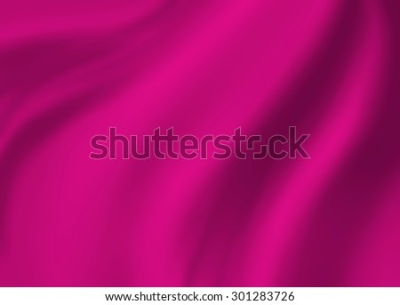 pink background abstract cloth illustration. Wavy folds of silk texture satin or velvet material. Elegant curves of luxury pink material. - stock photo