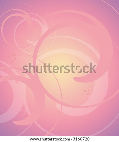 Pink Background Illustration - stock photo
