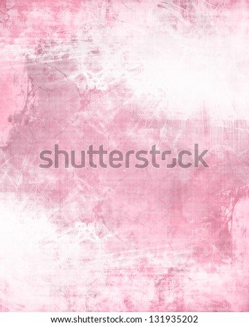 Pink background texture with some stains and grunge effects - stock photo