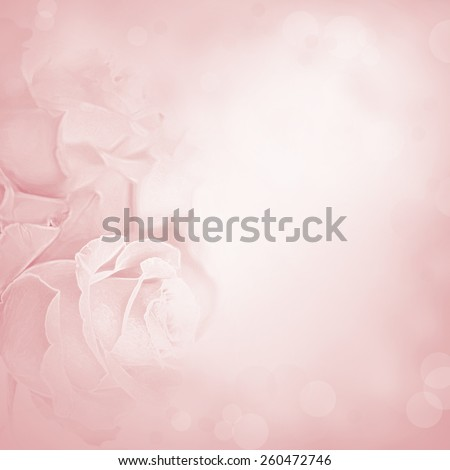 Pink background with rose flowers. Beauty spring backgrounds with roses, fine art simulation from real photo - stock photo
