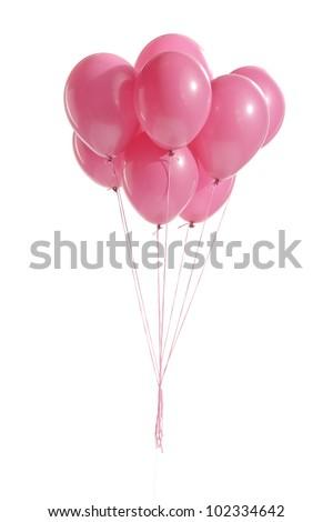 pink balloons - stock photo
