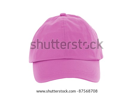Pink Baseball Cap isolated on white