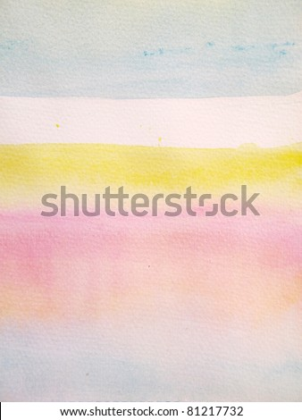 Pink Blue & Yellow Pastel Watercolor Background 6 - stock photo