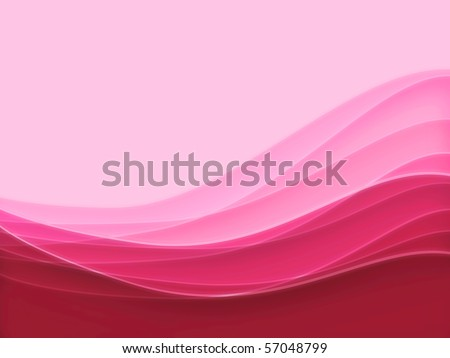 Pink blurry waves and curved lines background - stock photo