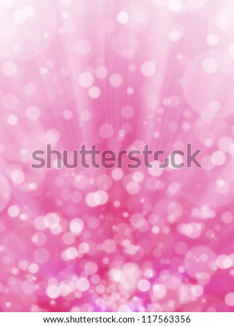 Pink bokeh abstract light background - stock photo