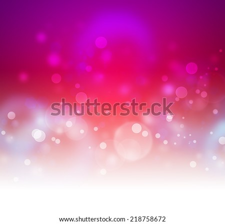 pink bokeh as festive background - stock photo