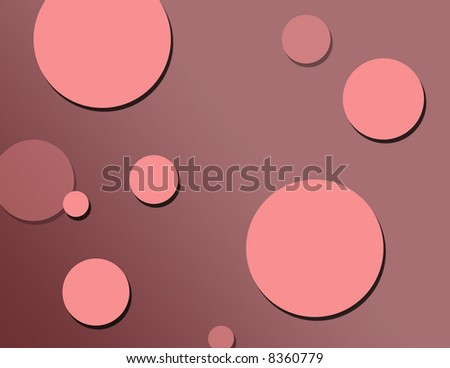 Pink bubble background - stock photo