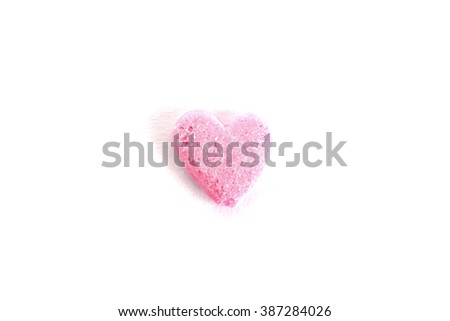 pink candy heart - stock photo