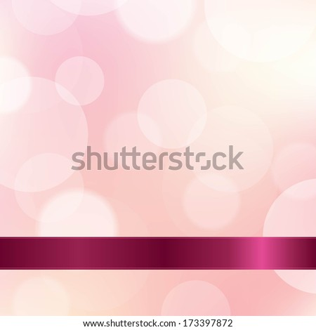 Pink Color Background With Ribbon - stock photo