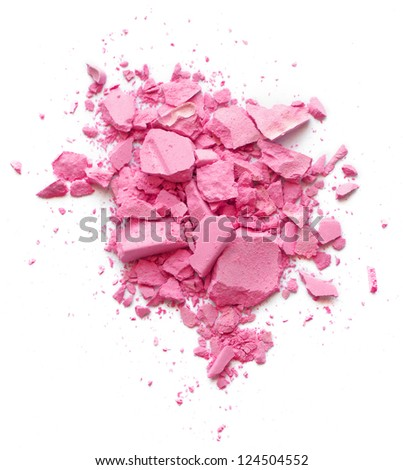 Pink Crushed Cosmetic - stock photo