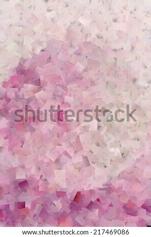 Pink Cubism Abstract - stock photo