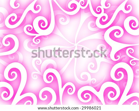 pink curly background