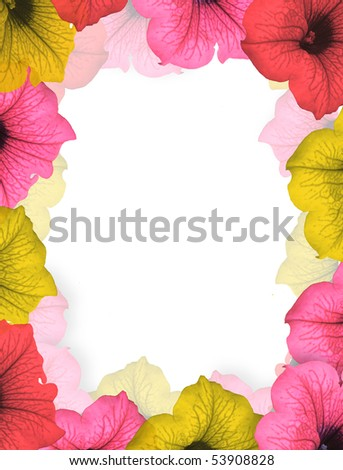 Pink double flower frame with place for text