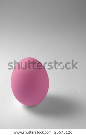 Pink Egg - stock photo