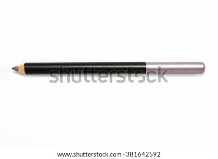 pink eye pencil on white background