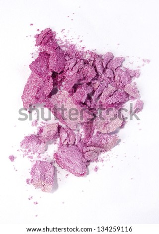 pink eyeshadow isolated on white
