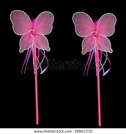 Pink fairy wands for getting all your wishes - stock photo