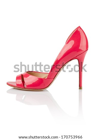 Pink fashionable women shoe shot in studio