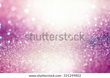Pink Festive Christmas abstract bokeh background, shining lights, holiday sparkling atmosphere, celebration ambient - stock photo