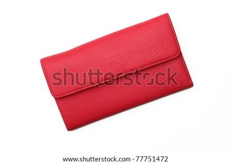 Pink Fuchsia Leather Wallet - stock photo