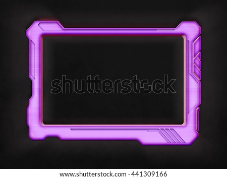 Pink Futuristic Screen Tablet Device