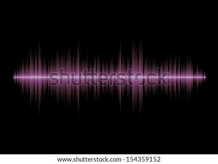 Pink glamour music waveform with sharp peaks - stock photo