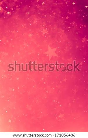 pink glowing stars background - stock photo
