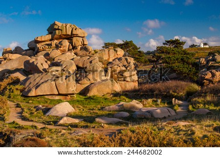 Pink Granite Coast, Brittany, France