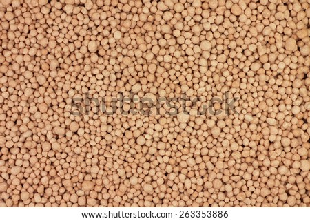 pink granules mineral fertilizers abstract background - stock photo