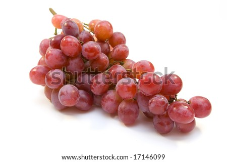 Pink grape cluster - stock photo