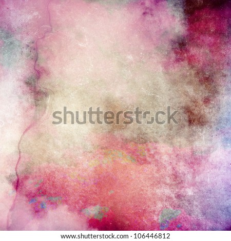 Pink grunge paper texture, art background - stock photo