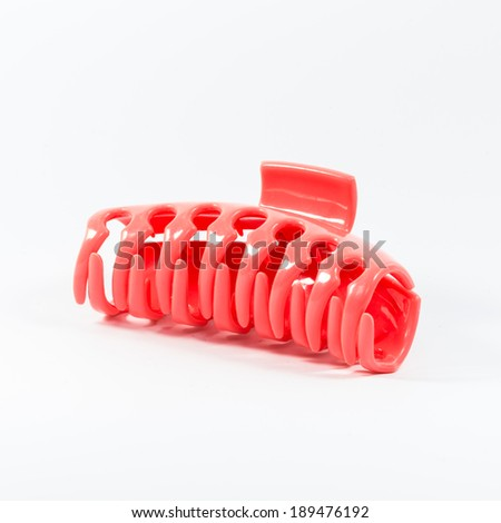 Pink Hair clip - stock photo